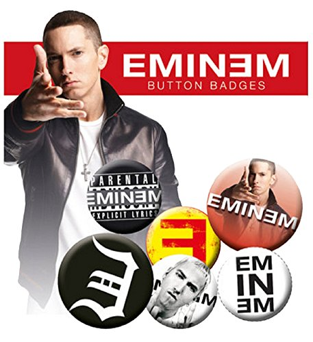Eminem Logo Recovery Nue offiziell Badge Pack (4x 25mm & 2x 32mm)