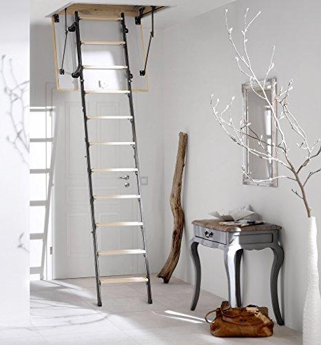 Intercon® Mini Bodentreppe 4-tlg. Inklusive Zubehör in 4 Größen bis Raumhöhe 265 cm U-Wert 1,22 oder 0,852 (U-Wert: 1,22, 100 x 70 cm)