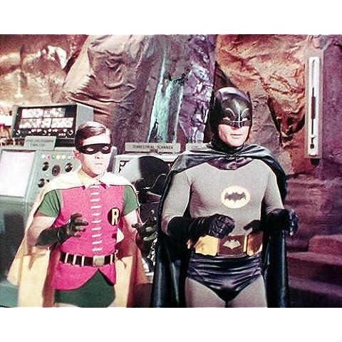 Batman serie TV de culto Burt Ward Adam West 10x 8fotografía de promoción bate de dentro de la