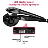 KREA Easy Curler Pro with LCD Display and Ceramide Advantage for Less Damage (Black, CURLER_S103)