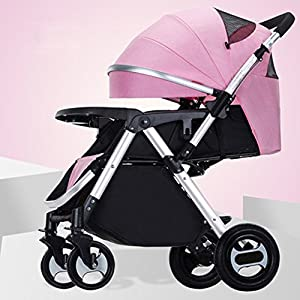 Baby stroller can sit Reclining portable folding baby stroller   4