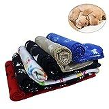 KYC 3er Pack Welpen Decke Kissen Hund Katze Fleece Decken Haustier schlafen Matte Pad Bett decken mit Paw Print Kätzchen weiche warme Decke für Tiere (3 X Paw, 40in * 28in)