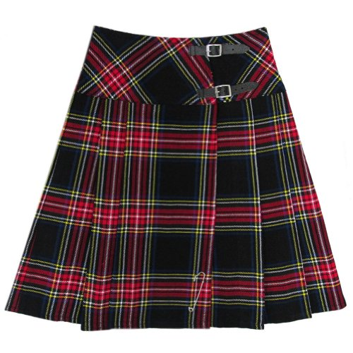 Traditionelle Kostüm England - Tartanista - Damen Wickel-Kilt - lang - 58 cm (23
