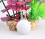Huihuger Spherical-Shaped LED Pet Luce Ciondolo Dog Tag Ciondolo ( Bianco )