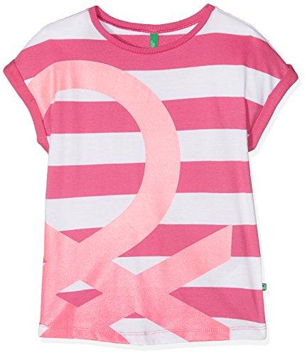 united-colors-of-benetton-t-shirt-bambina-rosa-pink-white-6-7-anni-taglia-produttore-small