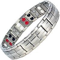 IonTopia Zeus Titanium Magnettherapie-Armband Silber-Finish mit Gliederentfernungswerkzeug preisvergleich bei billige-tabletten.eu