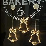 Luce 3D LED String A Batteria Natale Decorativo Cortina Di Luce, Di Aspirazione Della Finestra Luce Cup Fai Da Te (2)
