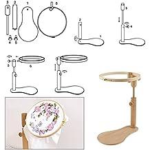 Set de aros de costura para bordado de punto de cruz, fácil de enganchar, aros de madera ajustables, anillo de madera, para hacer manualidades, ...