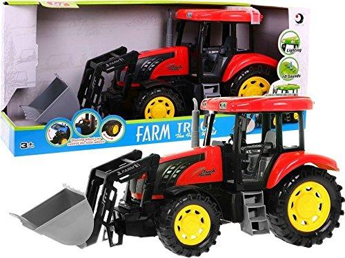 Modelo de Tractor para Niños Juguete con Efectos de Sonido y Luz - Rojo