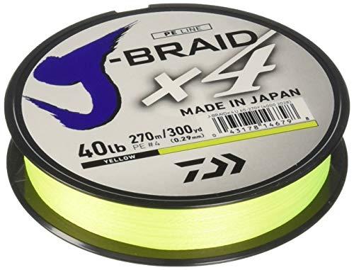 Daiwa jb4u40-300FY j-Braid X4300Yd Spule 40lb Test Angelschnur, Fluoreszierendes Gelb