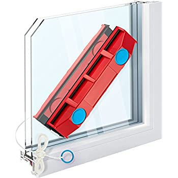 cleaning results also as a shower squeegee. UPP window wiper magnetic double-sided Professional cleaning for 1 and 2 times glazing Superstrong magnet in window cleaner