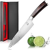 Cuchillos Cocina DEIK, Cuchillo de Chef, Cuchillo de Cocina, Acero Inoxidable, Alto Carbono, Cuchillo Chef Profesional de 8 Pulgadas, Mango Ergonómico