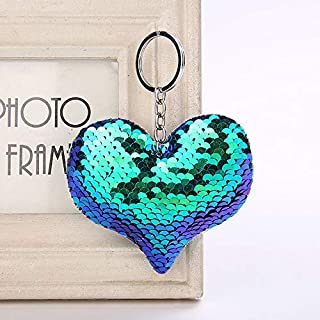 OSYARD Schlüsselanhänger,Keychain,Mode Pailletten Herz Tasche Anhänger Bunte Pailletten Herzförmigen Schlüsselanhänger Keyring Schlüsselringe Rucksäcke Dekor