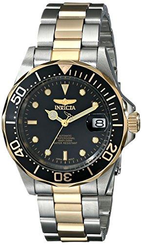 Invicta Pro Diver 8927 - Reloj de automático unisex, con correa de acero inoxidable chapado, color multicolor