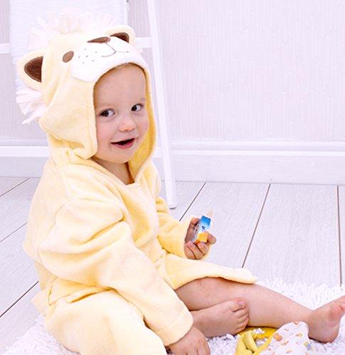 Bathing Bunnies Lion-Accappatoio con cappuccio in cotone per 1-3 (Bunny Hood)