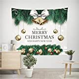 Prevently Brand New Creative Printing Christmas Xmas Tapestry Hippie Room Bedspread Wall Hanging Throw Blanket Picnic Blanket and Beach Room Home Wall Window Decoration (C)