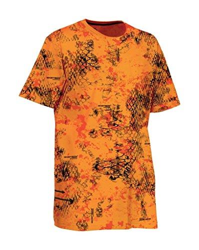 Ligne Verney-Carron Camiseta Hombre Snake - Camou Orange, L