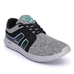 Campus Mens Black Mesh Running Shoes - 7
