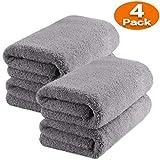 TAGVO Panno in Microfibra per la Pulizia dell'auto, Asciugamano in Microfibra Senza Bordi, Panno per Lucidatura qualità Premium, Uso Professionale per la Cura dell' Auto o Casa (Panno x4)