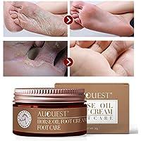 AJUMKER Aceite de caballo Crema para pies Cuidado de los pies Crema Hidratante Comezón de ampollas Reparación Anti-agrietamiento Suavizante antifúngico Peeling Cuidado de los pies
