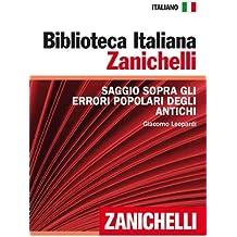 Saggio sopra gli errori popolari degli antichi (Biblioteca Italiana Zanichelli) (Italian Edition)