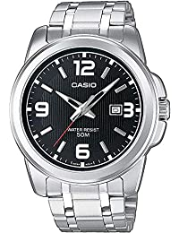 Casio Reloj Analógico de Cuarzo con Correa en Acero Inoxidable MTP-1314PD-1AVEF