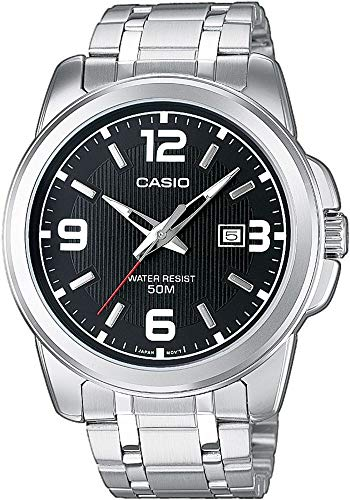 Casio collection mtp-1314pd-1avef - orologio da polso analogico, nero/metallizzato
