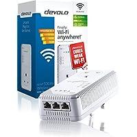 devolo dLAN 500 AV Wireless+ Add-On Powerline Adapter (500 Mbps via Power Line, 300 Mbps WiFi, 1 x PLC Homeplug Adapter, 3 x LAN Ports, WiFi Booster, Wireless Range Extender, whole home wifi) - White