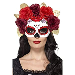 Smiffys 44883 Day of the Dead Rose Eye Mask (One Size)