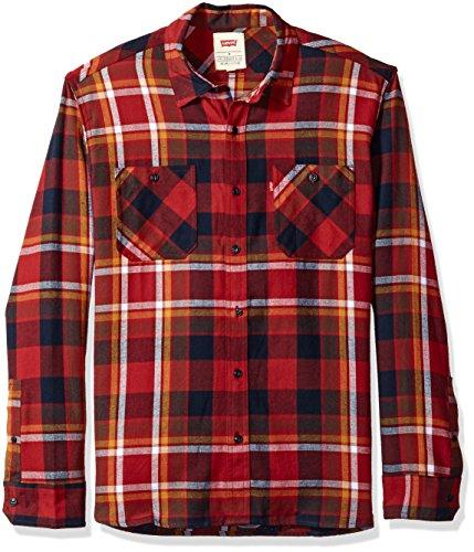 Levi's Hombre 3LYLW10802 Camisa con Botones - Rojo - Large