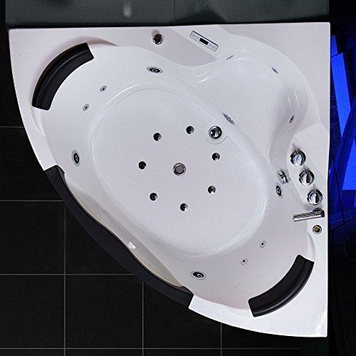 TroniTechnik LUXUS Whirlpool Badewanne Wanne Eckwhirlpool Spa 2 Personen Eckwanne 150x150 - 6