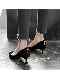GAOLIM Los Zapatos De Tacón Alto Negros En La Primavera Zapatos De Punta Fina Con Solo Zapatos, Zapatos De Mujer...