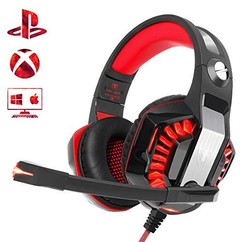 Beexcellent Cuffie Gaming per Xbox One PS4 PC, Riduzione del Rumore Comfort Stereo Sound 3,5 mm LED Cuffie Over Ear...