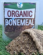 Shiviproducts Organic Bone Meal Fertilizer as Natural NPK Supplement for Plants in Garden (900 g) with Spinach