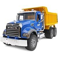 Bruder 02815 - Camion benne MACK - Bleu Jaune