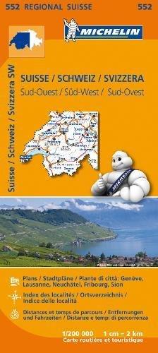 Mapa Regional Suisse Sud-Ouest/ Schweiz Süd-West/ Svizzera Sud.Ouest (Carte regionali) por MICHELIN