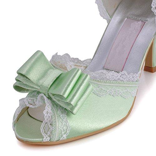 femme de tendance mariage Minitoo 7 Green 5cm Heel Chaussures 15znqxgPI