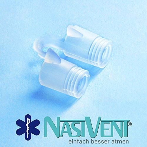 Nasivent Tube Plus Anti Schnarch Mittel (Neues Model) - Größe S/8mm - 2er Pack (Mit Reisebox) - 3