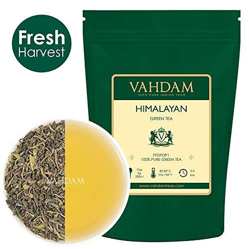 Grüne Teeblätter aus dem Himalaya 100 Gramm (50 Tassen) - Entgiftender, reinigender und gewichtsreduzierter Tee, 100{5e1c35c67ef388e371bbc536792c3f050f86f4ab4cc5b4e268c5211e633d2eb2} reiner grüner Tee aus den Hochlandplantagen in Darjeeling