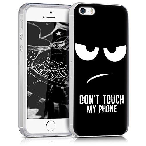 kwmobile Apple iPhone SE / 5 / 5S Hülle - Handyhülle für Apple iPhone SE / 5 / 5S - Handy Case in Weiß Schwarz