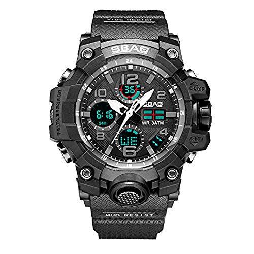 YEARNLY Jungen Uhren Herren Uhren Kinder Armbanduhr Jungen Digital Analog Wasserdicht Sports Uhren für Jungen und Herren Digital Uhr Sports Uhren Wecker leuchtende elektronische Uhr Ø56mm ()