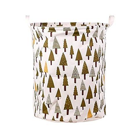 Große Baumwolle Leinen Stoff Kleidung Barrels Wäschesammler Cartoon Streifen Aufbewahrungskörbe Staubbeutel, 1#