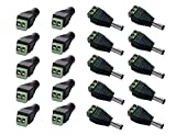 VIPMOON 10 pares 5.5 x 2.1mm macho + hembra DC Jack Adaptador de conector de alimentación para cámara CCTV LED Strip