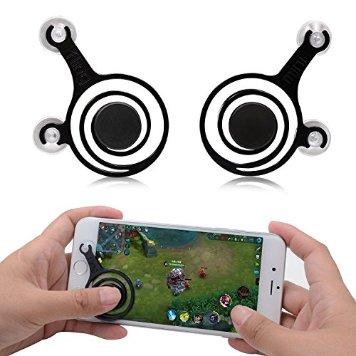 Wicrotec Joystick Mobile Phone & Tablet Game Rocker Handle Controller Mini Touch Screen Joypad For Smartphones & Tab (2 pcs)-Black  available at amazon for Rs.245