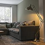 QAZQA Retro Stehleuchte / Stehlampe / Standleuchte / Lampe / Leuchte Hobby Stahl / Silber / nickel matt / Innenbeleuchtung / Wohnzimmer / Schlafzimmer Metall Rund LED geeignet E27 Max. 1 x 60 Watt
