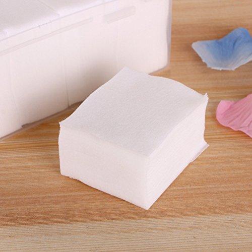 Frcolor Cotton Pads Absorbent Thin Puffs Baumwoll Quadrat für das Entfernen von Gesichts Make-up und Nail Polis, Packung von 1000 (1000 Thin)