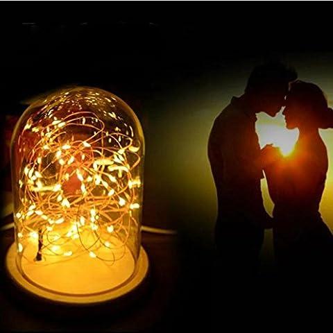 LED Feuer Baum Silber Blume Romantische Glasabdeckung Schlafzimmer Schreibtisch Nachtlicht Lampe USB Feuer Baum Silber Blume LED-Nachtlicht Lichtlampe HKFV (Gelb)