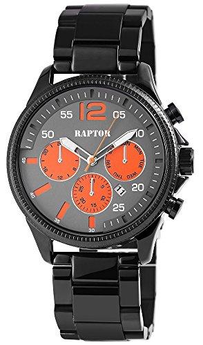 Raptor Herren Uhr Chronograph Analoges Quarzwerk mit Edelstahl Armband RA20160