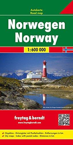 Noruega, mapa de carreteras. 1:600.000. Freytag & Berndt. (Auto karte)