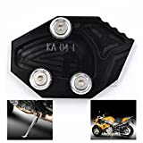 BJ Global Motorcycle Kickstand CNC Aluminum Side Stand Plate Extension Enlarge For KAWASAKI ZX-14R (ZZR1400) 2006-2014/For KAWASAKI GTR1400 (CONCOURS 14) 2007-2014 (Black)